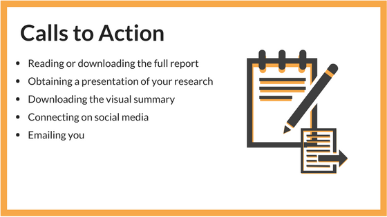 creating a visual summary of your research