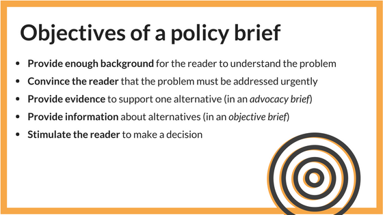 Policy briefs to present research