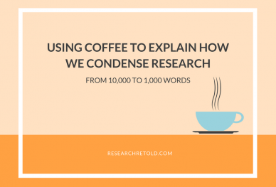 Using Coffee to explain how we visualise research