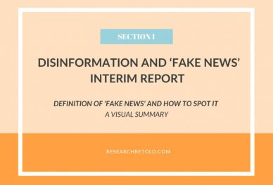 Definition of fake news - Disinformation and 'fake news' Report - Visual Summary