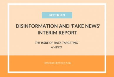 The issue of data targeting - Disinformation and 'fake news' Report - Video