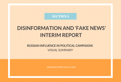Russian Influence in Political Campaigns - Disinformation and 'fake news' Report - Visual Summary