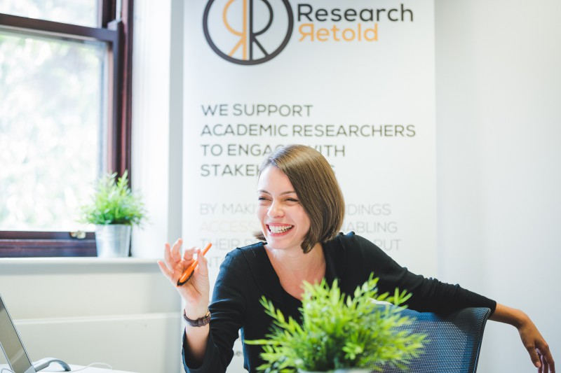 Mihaela Gruia Interns at Research Retold