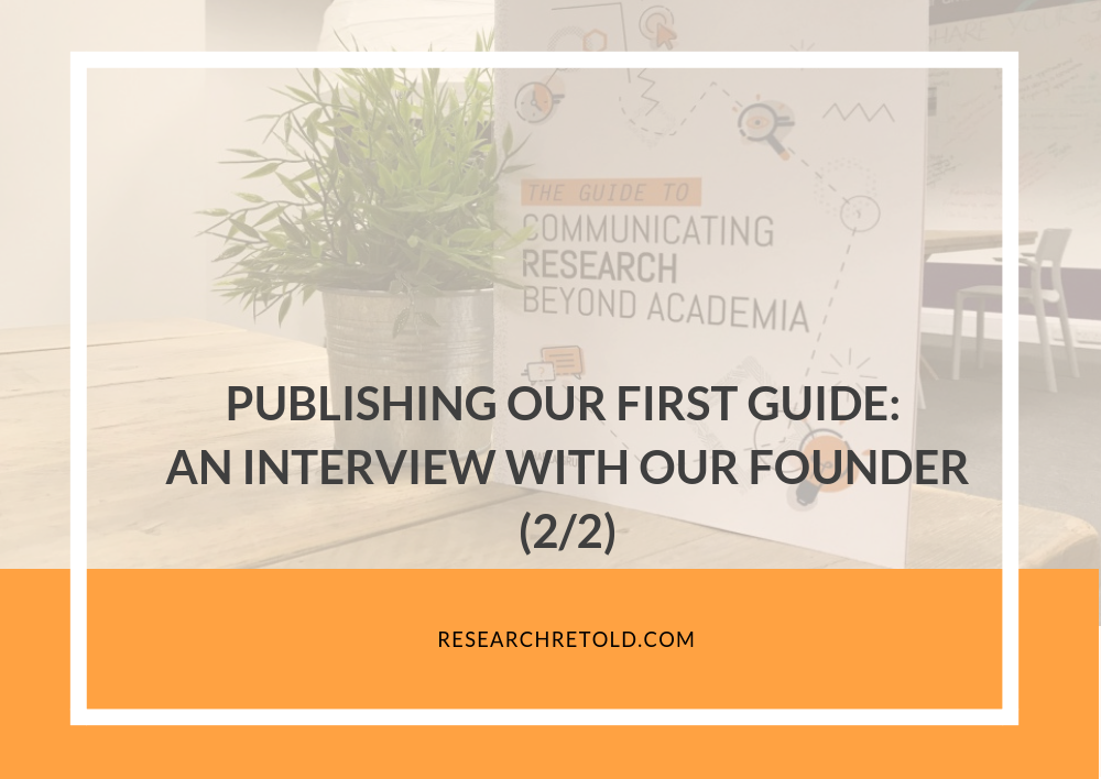 Mihaela Gruia, an interview about the Guide to Communicating Research Beyond Academia