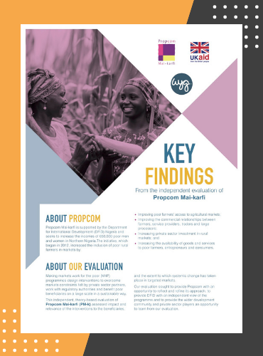 Monitoring, learning and evaluation support