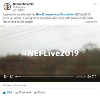 NEF Live 2019 New Entrepreneurs Foundation Video