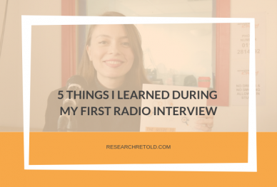 5 things I learned during my first radio interview