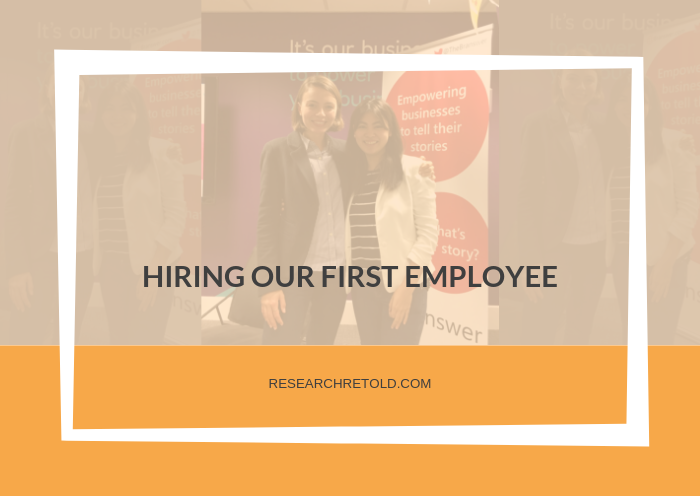 Hiring our first employee - Research Retold