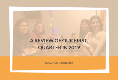 A review of our first quarter in 2019
