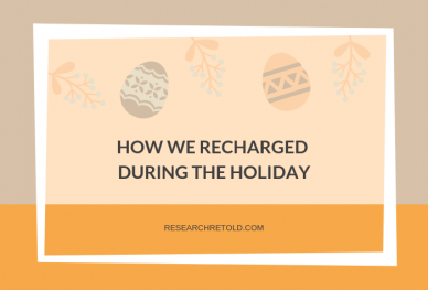 How we recharged during the holiday