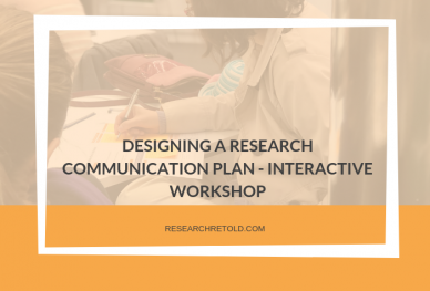 designing a research communication plan