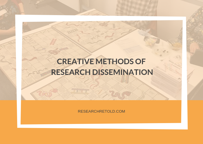 Creative methods of research dissemination