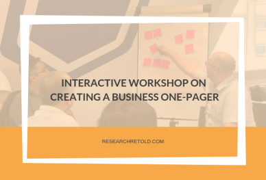 Workshop on creating a business one-pager Research Retold