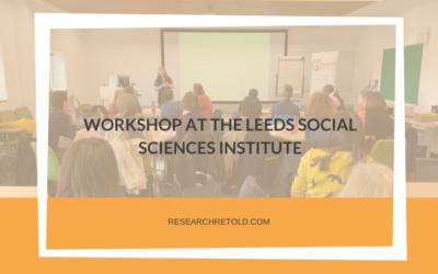 Workshop at the Leeds Social Sciences Institute