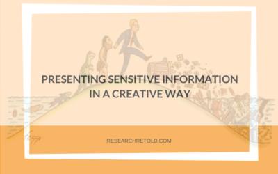 Presenting sensitive information in creative ways