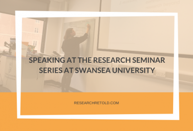 SPEAKING AT THE RESEARCH SEMINAR SERIES AT SWANSEA UNIVERSITY