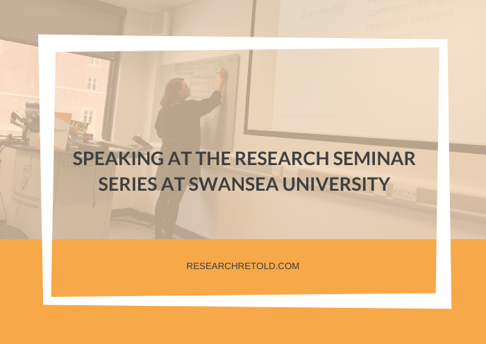 SPEAKING AT THE RESEARCH SEMINAR SERIES AT SWANSEA UNIVERSITY