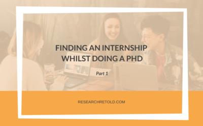 Finding an internship whilst doing a PhD