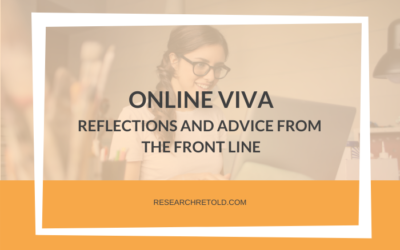 Online viva – Reflections and advice from the front line
