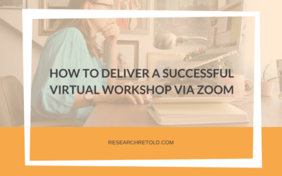 How to deliver a successful virtual workshop via Zoom