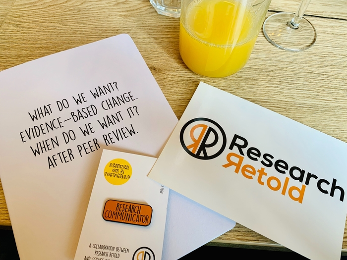 Research Retold Pin and Notebook