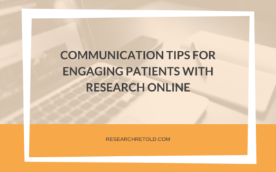 Communication tips for engaging patients with research online