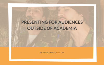 Presenting for audiences outside of academia
