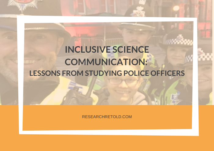 Inclusive science communication - lessons learned from police officers Cover Photo