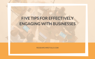Five Tips for Effectively Engaging with Businesses