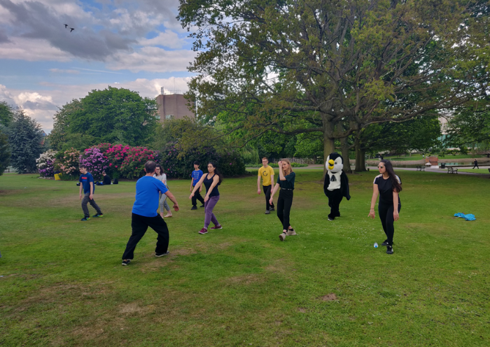 Lishi Tai Chi society class in the park - an example of achieving a work and life balance during the PhD