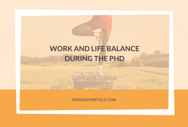 Featured Image: Work and life balance during the PhD blog