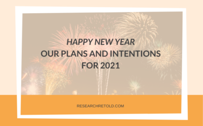 Happy New Year! Our plans and intentions for 2021